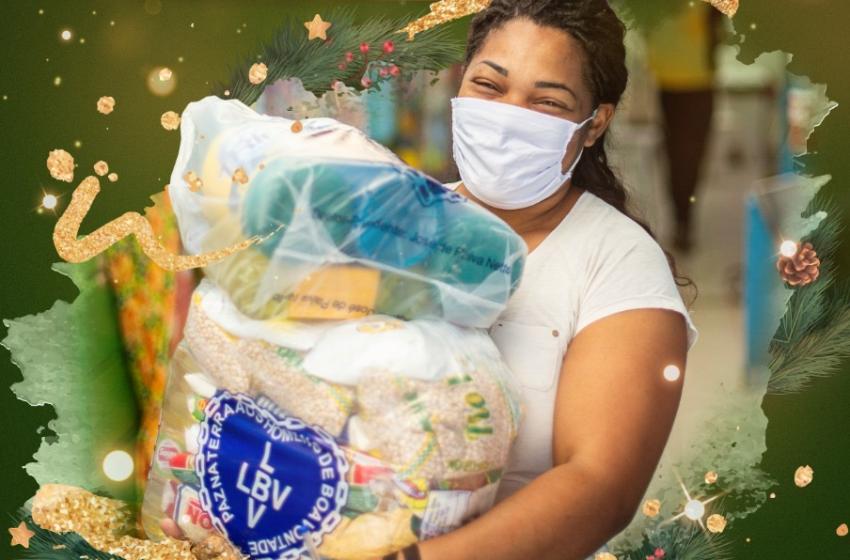 LBV entrega cestas de alimentos em Palmital