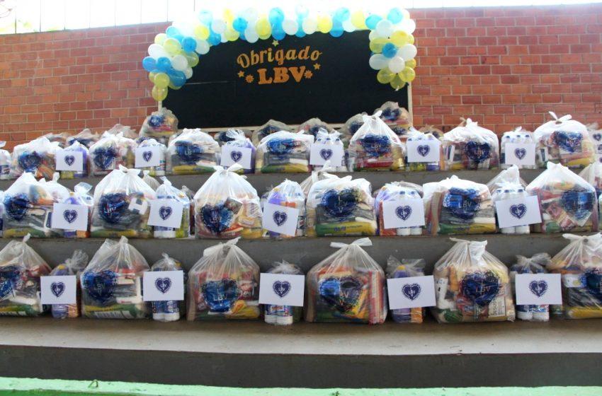 LBV entrega cestas de alimentos e leva esperança para 100 famílias em Palmital