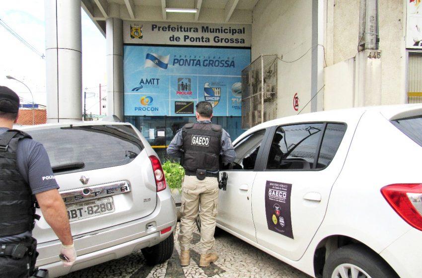 Prefeitura, Câmara, Vereadores, empresários de Ponta Grossa são alvos de operação do Gaeco
