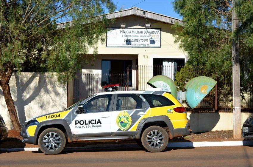 Moto sem placa baixada foi recolhida pela PM em Boa Ventura. O condutor de 20 anos sem CNH