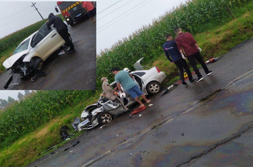 Cinco pessoas ficam feridas em acidente na PRC-466 interior de Pitanga
