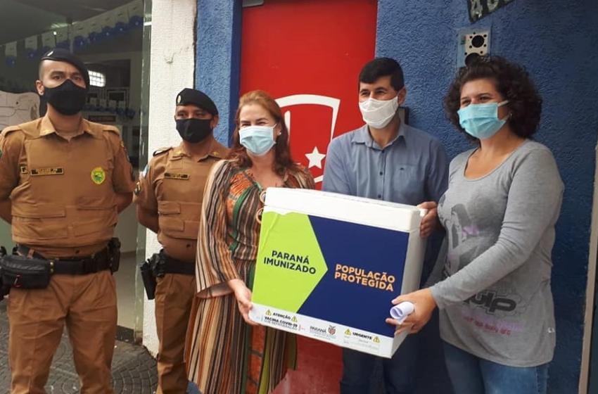 Polícia Militar acompanha a chegada da vacina da Covid-19 em municípios da região