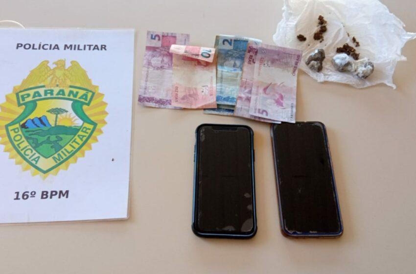 Mulher é presa, adolescente é apreendida, maconha, dinheiro e celulares, foram apreendidos em Manoel Ribas