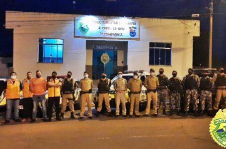 PM e Vigilância Sanitária de Pitanga fiscalizam dois pontos com aglomeração de pessoas