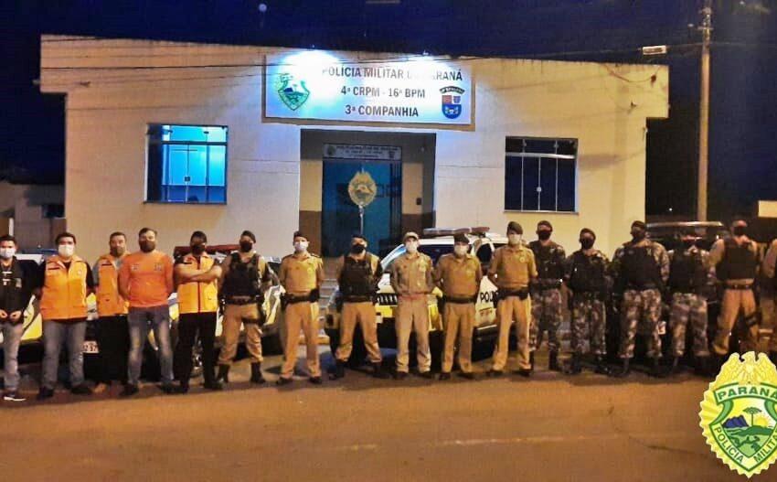 Comércio é fiscalizado pela PM e Vigilância Sanitária em Pitanga. Todos foram notificados, orientados e liberados