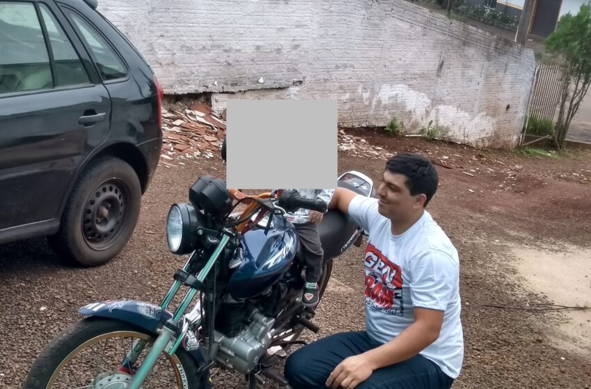 Moto é furtada da garagem de residência em Pitanga. A vítima recebe ligações pedindo dinheiro