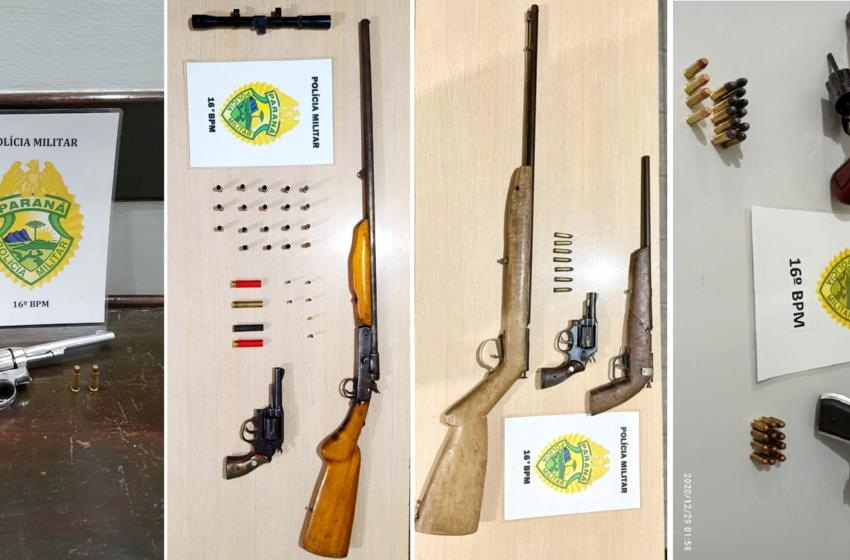 16º BPM recebe premiação por ter sido o batalhão que mais apreendeu armas de fogo de todo o Estado do Paraná