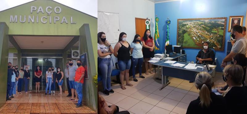 Comerciantes de Boa Ventura se reúnem em frente à prefeitura para discutir sobre fechamento do comércio