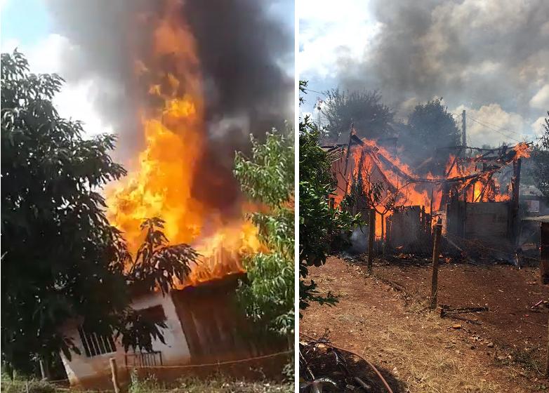 Laranjal – Participe da campanha de arrecadação para Dona Cecília, que teve sua casa destruída por um incêndio