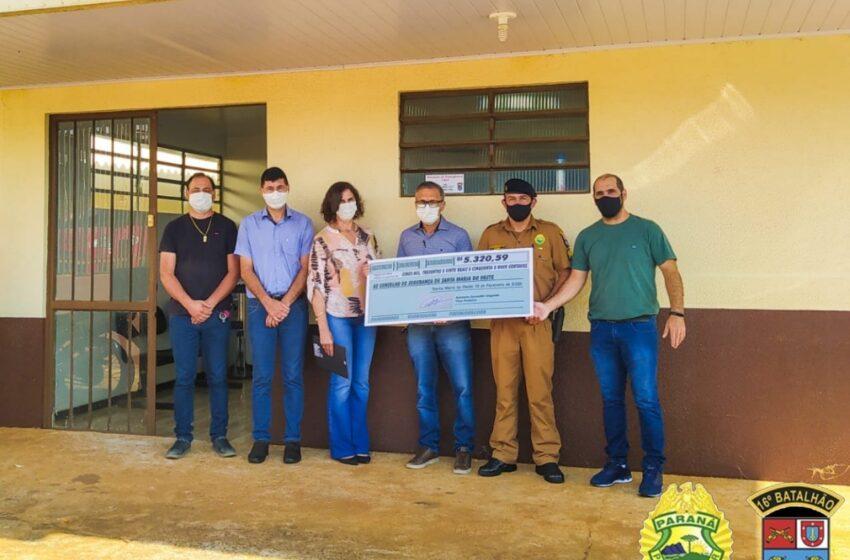 CONSEG de Santa Maria do Oeste recebe doação. O vice-prefeito doou o seu salário