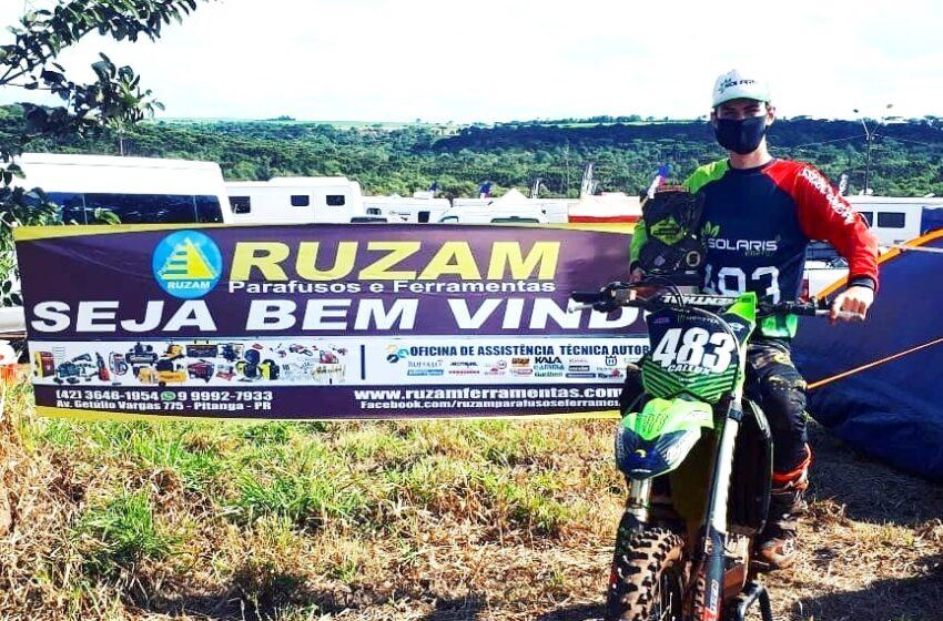 Piloto de Pitanga conquista o 5º lugar no Campeonato Paranaense de Motocross em Cascavel