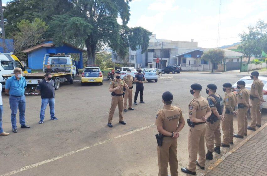 16º BPM realiza homenagem à policiais de Pitanga, que se destacaram durante atendimento de ocorrências