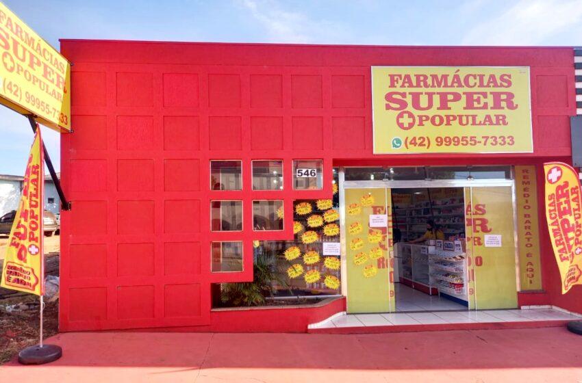 Santa Maria do Oeste conta agora com a Farmácia Super Popular. Remédio Barato é Aqui