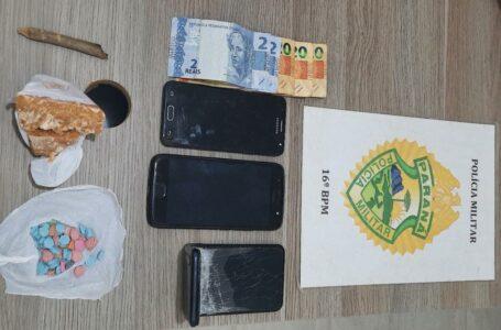 Drogas apreendidas em Pitanga – Três indivíduos foram para Delegacia com veículo de Campo Mourão