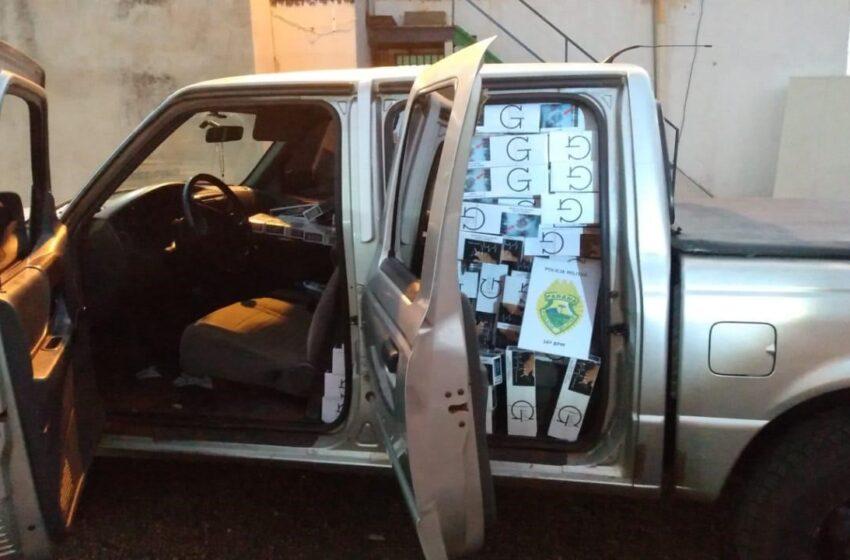 Dois mandados de prisão e contrabando de cigarros do Paraguai em Manoel Ribas