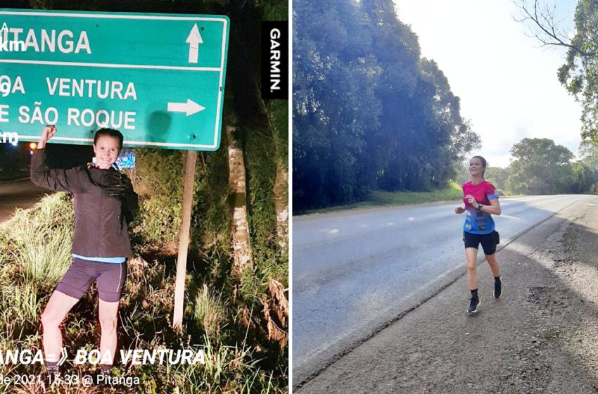 Corredora pitanguense percorre em menos de quatro horas de Pitanga a Boa Ventura