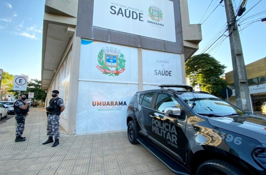 Operação que apura desvios na Saúde prende 7 pessoas e cumpre 62 mandados de busca em Umuarama. Houve busca e apreensão contra o prefeito