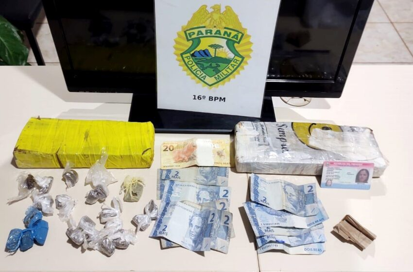Presos por tráfico de drogas em Manoel Ribas, com drogas, celulares e objetos com procedência duvidosa