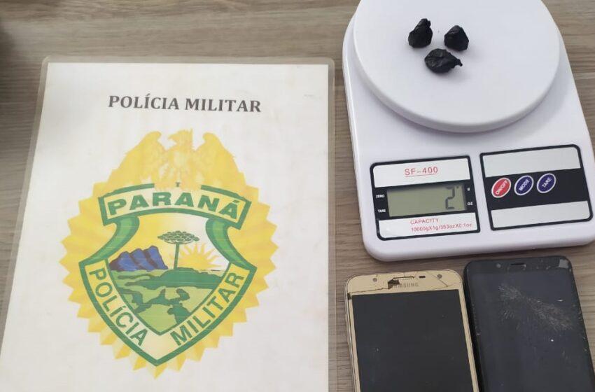 Criminosos de Campo Mourão foram abordados traficando drogas em Pitanga