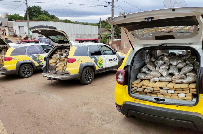 Polícia Militar apreende mais de 600 quilos de maconha em Nova Cantú, interior do Paraná