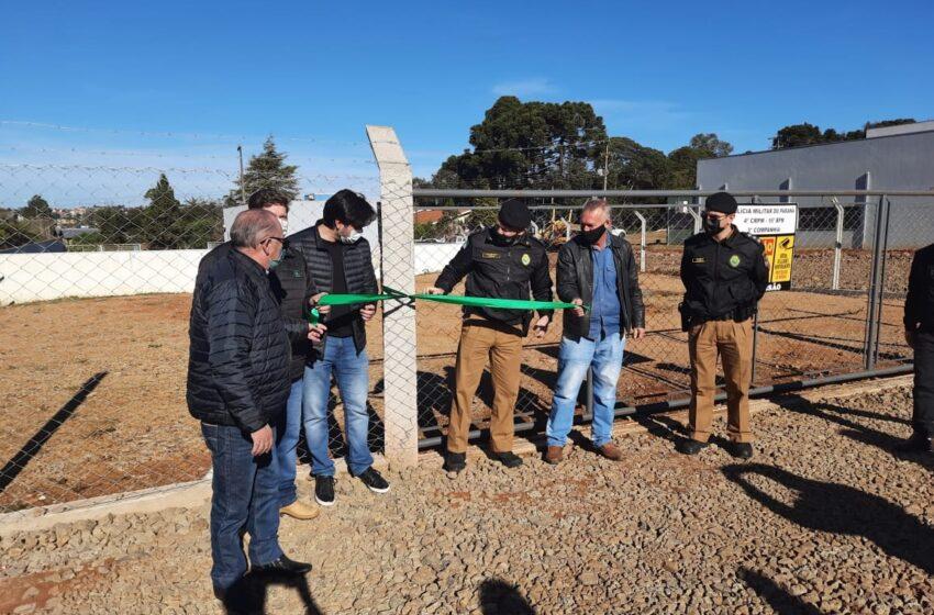 3ª companhia do 16º BPM inaugura Novo Pátio de Veículos e Policiais Militares são Homenageados