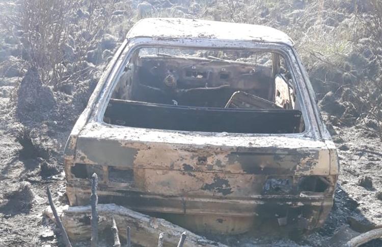 Corpo é encontrado carbonizado em veículo destruído pelo fogo no interior de Guarapuava