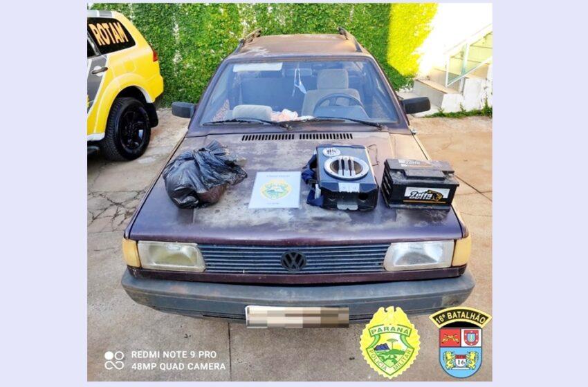 Veículo recuperado e autores de furto são presos pela Polícia Militar de Pitanga