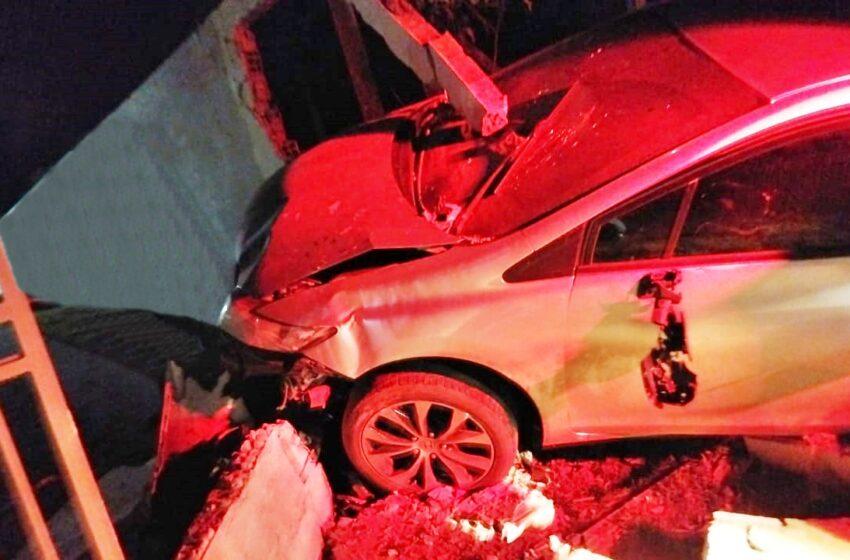 Preso por embriaguez ao volante em Pitanga, homem de 39 anos, após bater em muro de uma residência