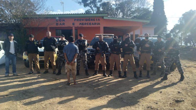 PM localiza em Marquinho, menina raptada em Goioxim, após perseguição e fuga do bandido