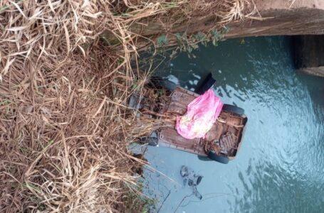 Adolescente morre após um veículo cair no rio em Santa Maria do Oeste