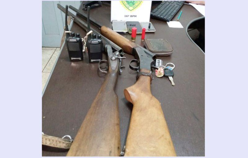 Presos em Manoel Ribas – Dois homens que praticavam caça ilegal. Armas apreendidas, cachorros e veículos